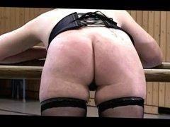 Master Whips Two Women's Bare Ass Hard