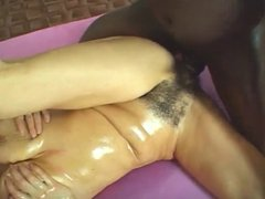 Black Stud Hammering that Hairy White Pussy MC169