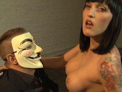 Paula Rowe- femdom fuck and creampie