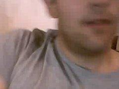 Straight guys feet on webcam #376
