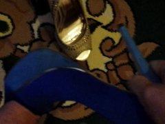 Cum on various high heels