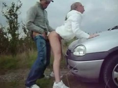 Amateur Couple Quickie On Car WF