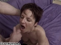Amateur girlfriend gangbang with facial cumshots