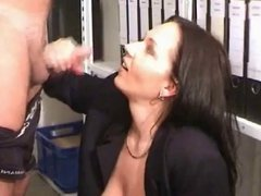 Busty Milf Fucking and Squirting In the Office BVR