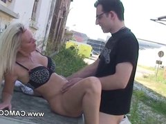 German teen amateur hard casting fuck outdoor