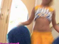 Rebecca Blue cheerleader gets a creampie
