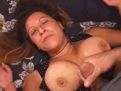 Big Tit Wife Takes Monster Cumshot