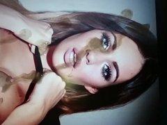 Mega Holly Peers Cum Tribute Slow Motion