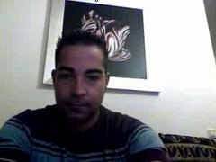 Straight guys feet on webcam #399