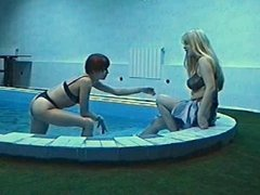 Russian girls get rough in the pool