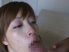 Another big facial for a japanese girl