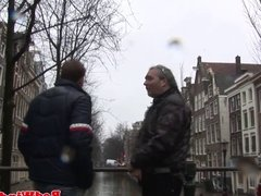 Real smalttited amsterdam whore gets creampie