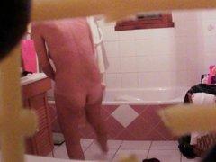 Spy mom in bathroom