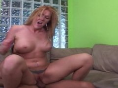 Red Head Cougar Seduces NOT Her Stepson