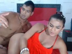 Young colombian shemale gets fucked from her boyfriend