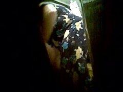 My granny caught nude in bath room. Hidden Cam