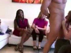 Thick Blonde Girl Sucks Off The Stripper