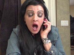 Yawning on the phone