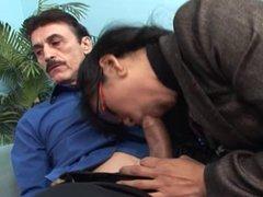 two asian sluts share a big long dick