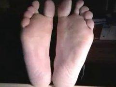 Straight guys feet on webcam #436
