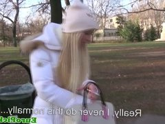 Euro pulicsex slut jizzed on outdoors