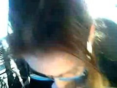 Awesome Chick Sucks Dick In A Car