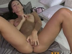 ORGASMS Classically beautiful brunette