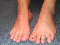 Sweaty feet after workout