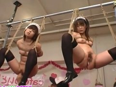 Kinky bondage for sleazy maids