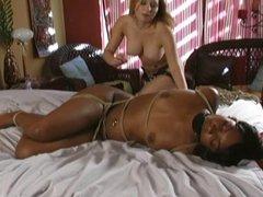 Lesbian fucks her bound girlfriend