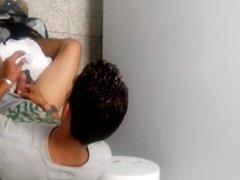 Twink caught jerking off in men's room