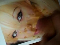 beautiful french blondie gets a huge facial tribute