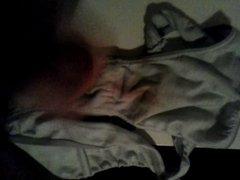Wanking in to my gf dirty panties.