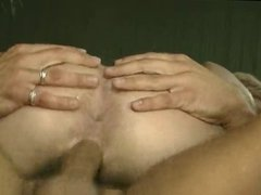 Sexy short haired blonde gets her cunt stuffed with cock