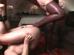 mistress foot fucks a slave
