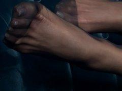 silvia saint foot tease