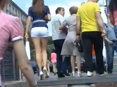 candid heels sexy tigh ass ukrainian girl