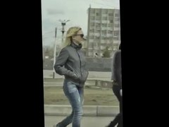 candid russian girls in street