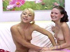 Homosexual teen girl seduces virgin part 1