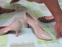 HIGH HEEL SHOE w33 Wife's High Heel Shoe ROPE High Heel Shoe