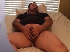Daddy Bear Jo on bed