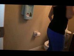 Sneaky Cfnm Pov bathroom blowjob