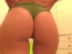 Busty Blonde Teen Working Out! Big Round Booty! Oh Mama!