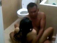 real am on bath floor