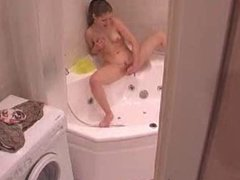 She does not know to record (bath,teen)