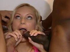 White and black dick for hot blonde