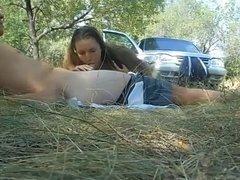 Russian whore Yulia. Outside