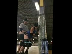 Couple Fuck in a Roller Derby