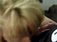 Classic Blonde Cougar Sucks Dick