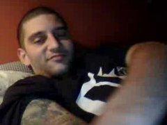 Straight guys feet on webcam #524